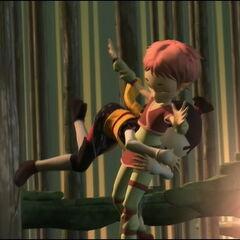 Јуми спасава Аелиту.