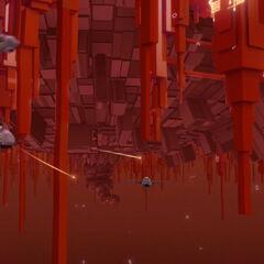 Црвено дигитално море током Ксениног напада.