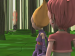 Odd and Aelita are looking at the activated Tower in the Forest Sector