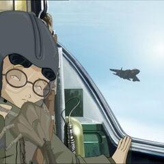 Џереми гледа како долази други авион.