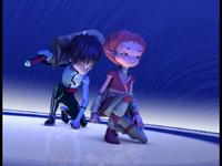 William and Aelita land in the Arena image 1