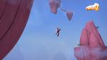 Aelita carries Yumi in the Mountain Sector