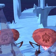 Крабе пуцају у леденом сектору.