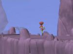 X.A.N.A. Aelita running to the Mountain's Sector Way Tower in Double Trouble