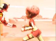 Yumi hit by a Megatank