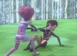 X.A.N.A.-Aelita and Ulrich frozen