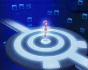 Aelita sta salendo all'interno della torre