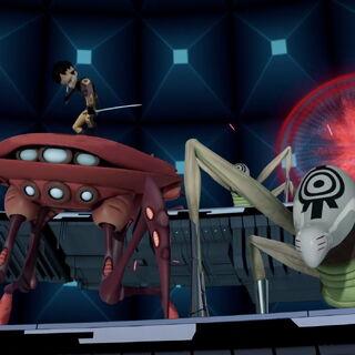 Ксенина чудовишта у језгру Кортекса, против нинџа.