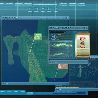 Аелита на холограмској мапи.
