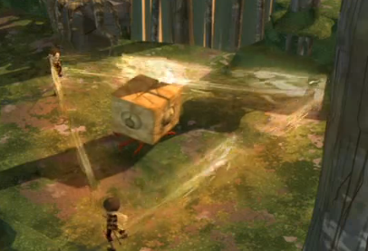 Code-lyoko-ulrich-uses-triangulate-on-a-blok-in-the-forest-sector