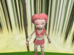 Aelita is looking at Scyphozoa with fear