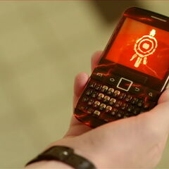 Ксенино око на мобилном телефону.
