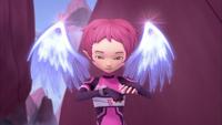 Aelita creates her angelic wings