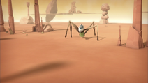 A Tarantula seen in the Desert Sector in Evolution