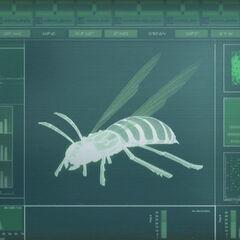 Скенер анализира осу.