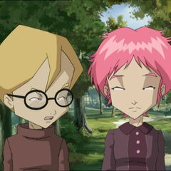 Jeremy and Aelita talking.