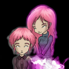 Aelita and her mother, Anthea.