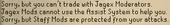 Jagex moderator no trade or assist