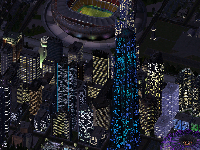 File:Downtown Dawson night from east.png