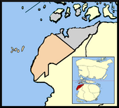 Location of Gansbaai