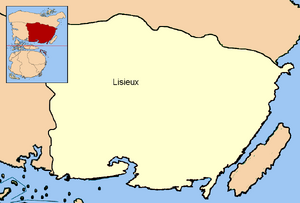 Location of Lisieux