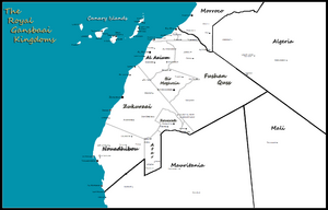Location map Gansbaai