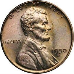USD 1950 1 Cent D