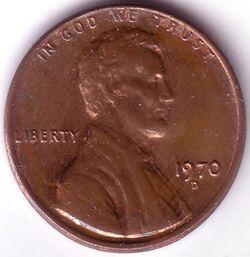 USD 1970 1 Cent D