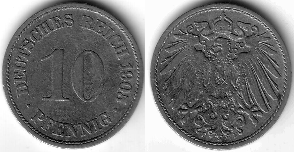 Deu Dem 1905 10 Pfennig F Coin Collecting Wiki Fandom