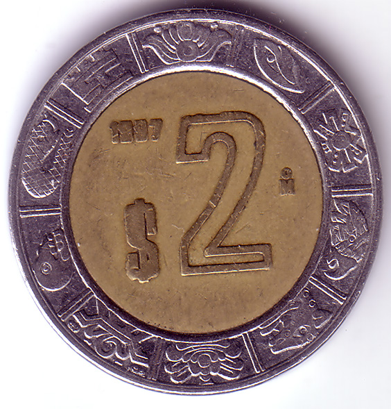 Mxn 1997 2 Peso Coin Collecting Wiki Fandom Powered By Wikia