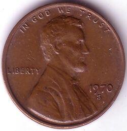 USD 1970 1 Cent S