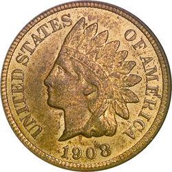 USD 1908 1 Cent