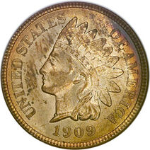 USD 1909 Indian 1 Cent
