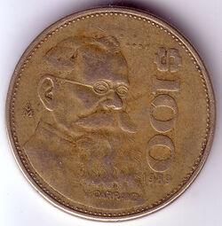 MXN 1989 100 Peso