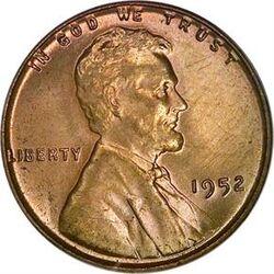 USD 1952 1 Cent