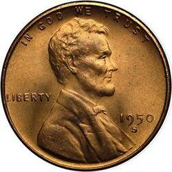 USD 1950 1 Cent S