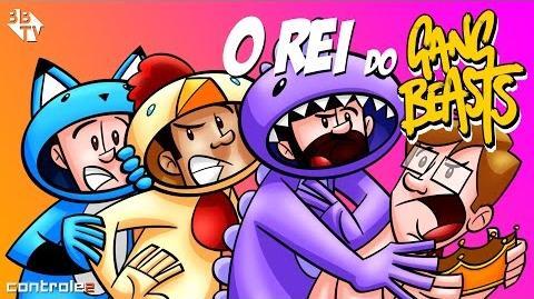 Controle 2 Animado -REI DO GANG BEASTS com Authentic, Leon, Edu e Caue