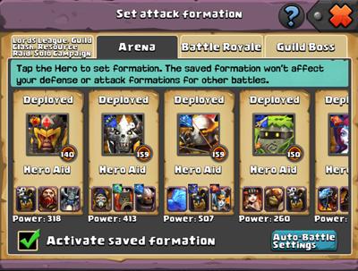 Set Attack Formation
