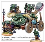 BSGOB007 Furrozek Filthfinger's Mighty Stone Thrower Orc and Goblin Crew
