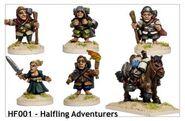 HF001 Halfling Adventurers