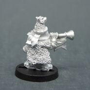 TAG DEM-074 Dwarf Bear Knignts command musician rear