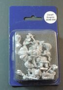 DEM054 Dwarf Imperial Knights on foot with swords & shields II blister