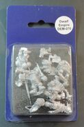 DEM070 Dwarf Boar Knight Command on foot blister