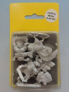 TAG HLM002 Halfling Light cavalry on roosters Command II (Sergeant & trumpeter)