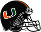 NCAA-ACC-Miami Hurricanes Black helmet