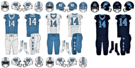NCAA-ACC-UNC Tarheels Uniforms