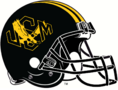 NCAA-USA-Southern MIss Black USM logo alternate helmet