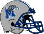 NCAA-AAC-Memphis Tigers silver helmet