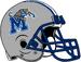 NCAA-USA-Memphis Tigers silver helmet