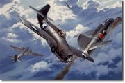 Grinnell Joe Foss Marines WWII fighter art